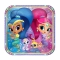 Set de 8 Platos Shimmer y Shine 23 cm