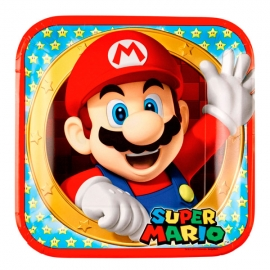 Set de 8 Platos Super Mario 23cm