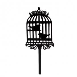 Set de 8 Toppers Jaula de Pájaros
