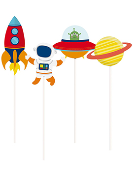 Set de 8 Toppers Largos Astronauta