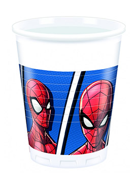 Juego de 8 Vasos Spiderman Team Up