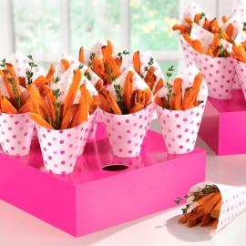 Set de conos y Soportes Lunares Rosas