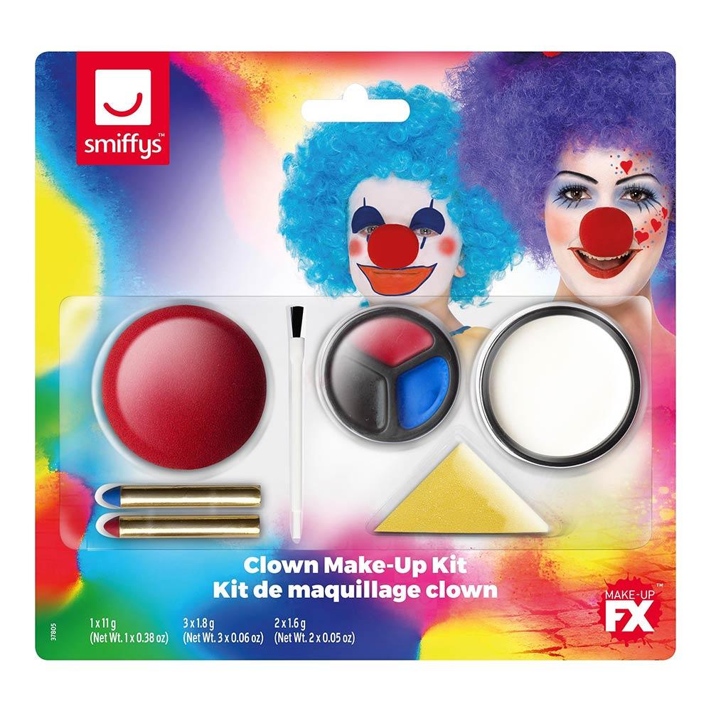 Set de Maquillaje con Nariz Payaso