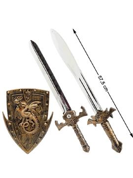Set Dos Espadas Medievales y Escudo