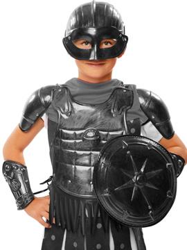 Set Gladiador Plateado Infantil