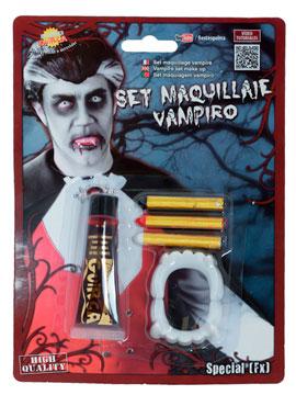 Set Maquillaje Vampiro con Sangre
