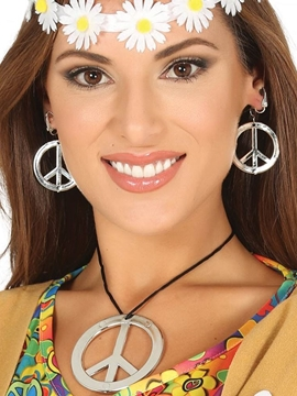 Set Pendientes y Collar Hippie
