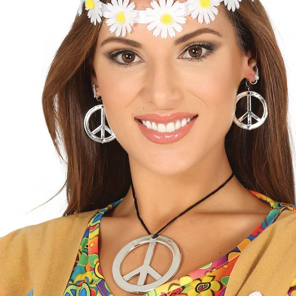 Set Pendientes y Collar Hippie