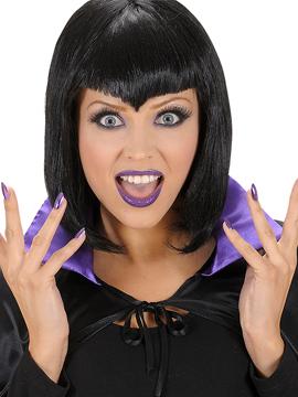 Set Uñas, Pestañas Postizas y Maquillaje Púrpura