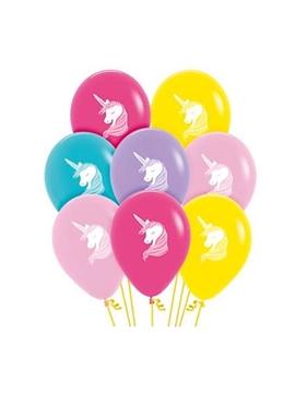 Set de 12 Globos Unicornio Colores Surtidos 30 cm