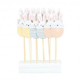 Toppers Decorativos Conejo de Pascua 12 ud