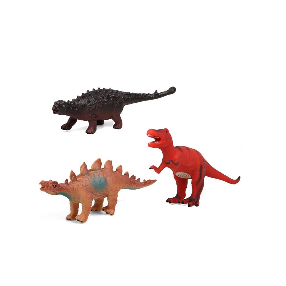 Set 3 Dinosaurios con Sonido Modelo B 35 cm