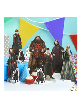 Set de 9 figuras para decorar mesas dulces de Harry Potter