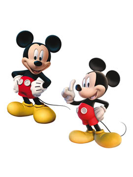 Pack de 2 Siluetas Decorativas Mickey Mouse