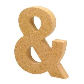 Símbolo de Madera & (Et) 12cm