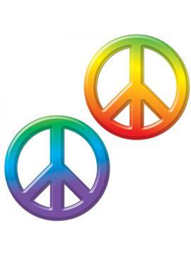 Símbolo Hippie-Paz para Pared 23 cm