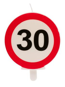Vela 30 Cumpleaños Señal Prohibido