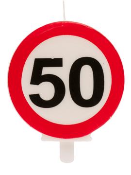 Vela 50 Cumpleaños Señal Prohibido