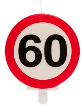 Vela 60 Cumpleaños Señal Prohibido