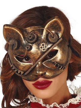 Máscara Gato Steampunk PVC
