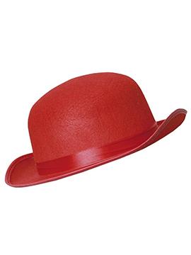 Sombrero Bombín Rojo