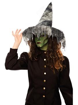 Sombrero Bruja Negro Telas Colgantes