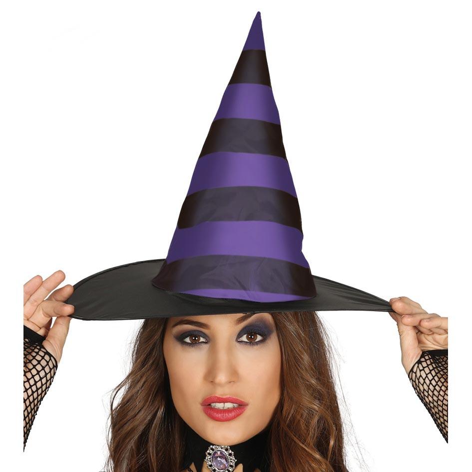▷ Sombrero Bruja Negro y Lila Halloween - Envíos en 24 H ✅ 0392f2ce1a3