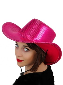 Sombrero Cowboy Lentejuelas Rosa