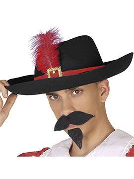 Sombrero Mosquetero Negro Adulto