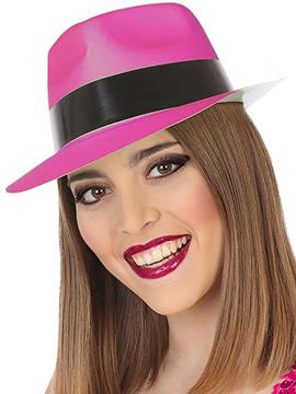 Sombrero Plástico Rosa Neon