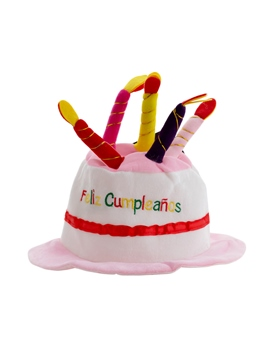 Sombrero Feliz Cumpleaños Rosa