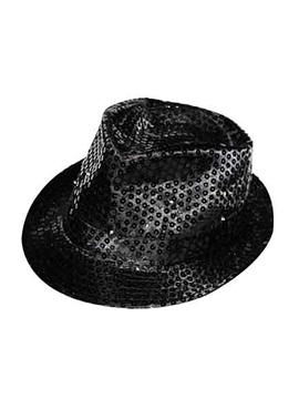 Sombrero con lentejuelas negro