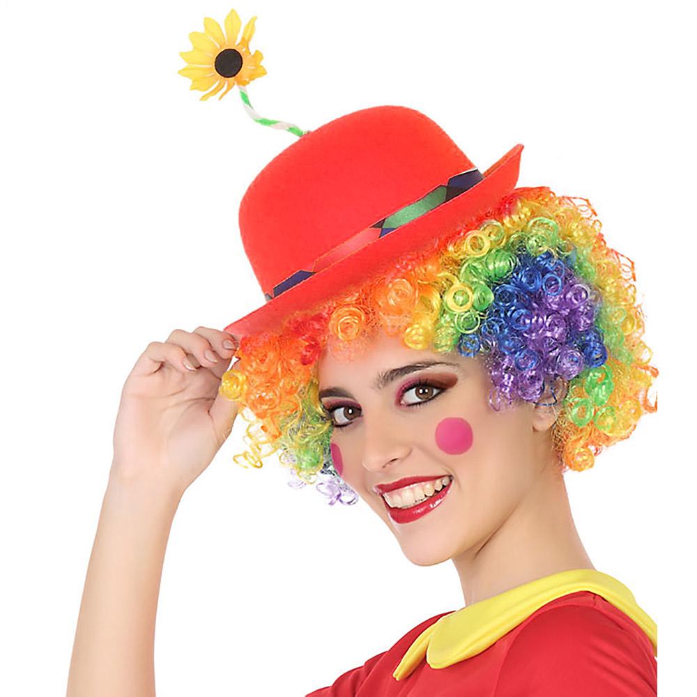 Sombrero Payaso Rojo con Flor Adulto