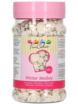 Sprinkles Blancos y Plateados Winter