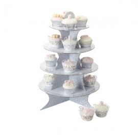 Stand de 4 alturas para cupcakes Elegancia