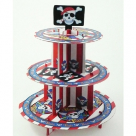 Stand para cupcakes Fiesta Pirata