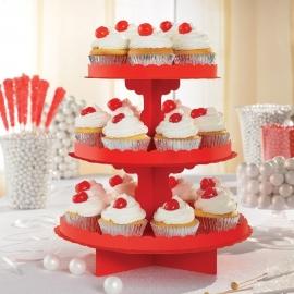 Stand para Dulces y cupcakes Rojo Manzana