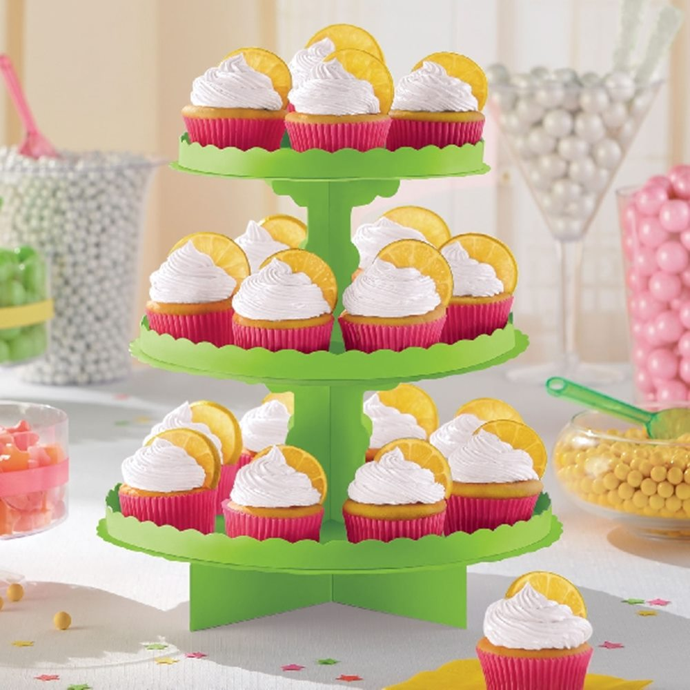Stand para Dulces y Cupcakes Verde Kiwi