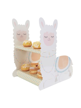 Stand para cupcakes de la colección Llama Love