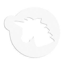 Stencil Cabeza de Unicornio