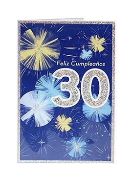 Tarjeta de Felicitación 30 Cumpleaños Modelo A
