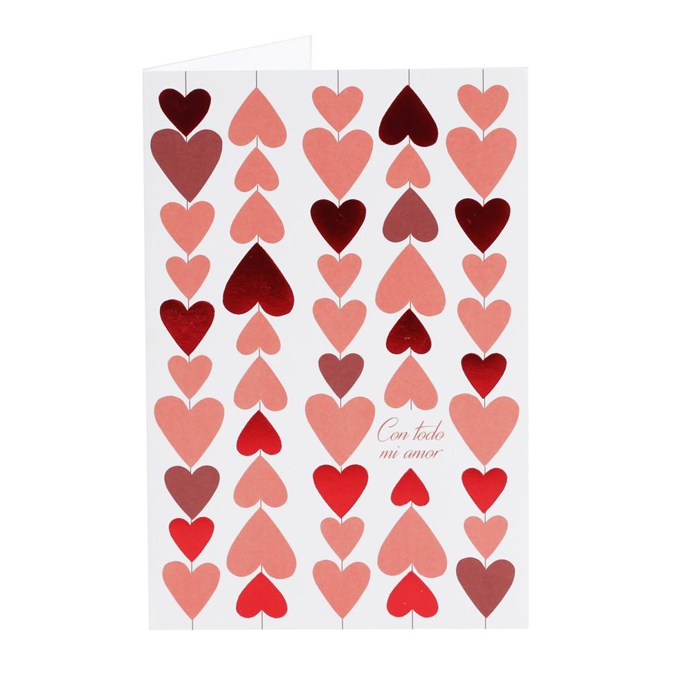 Tarjeta de Felicitación Corazón Modelo B