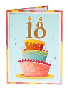 Tarjeta de Felicitación Gigante 18 Cumpleaños