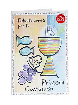 Tarjeta de Felicitación Primera Comunión Modelo C