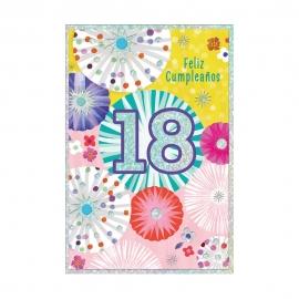 Tarjeta de Felicitación 18 Cumpleaños Modelo B