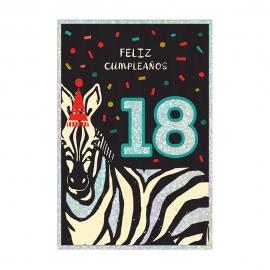 Tarjeta de Felicitación 18 Cumpleaños Modelo A
