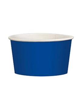 Juego de 20 tarrinas azul marino de cartón de 280 ml