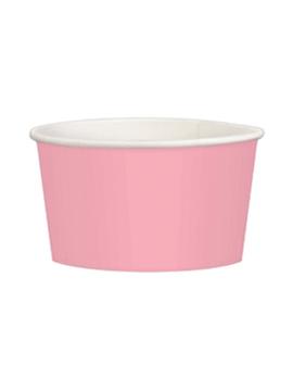 Juego de 20 tarrinas rosas de cartón de 280 ml
