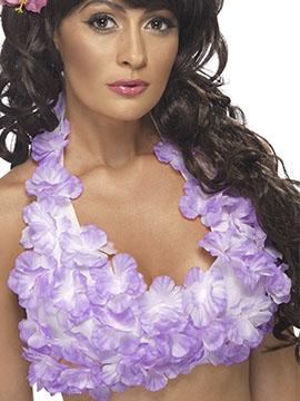 Top Hawaiano Flores Moradas