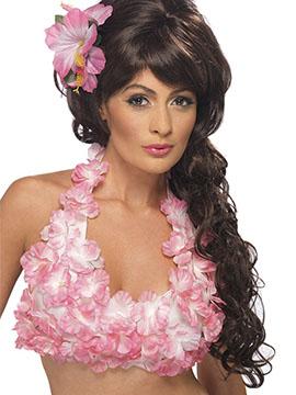Top Hawaiano Flores Rosas